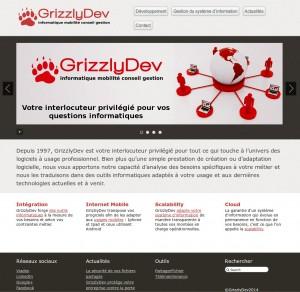 Page d'accueil avec diaporama intégré