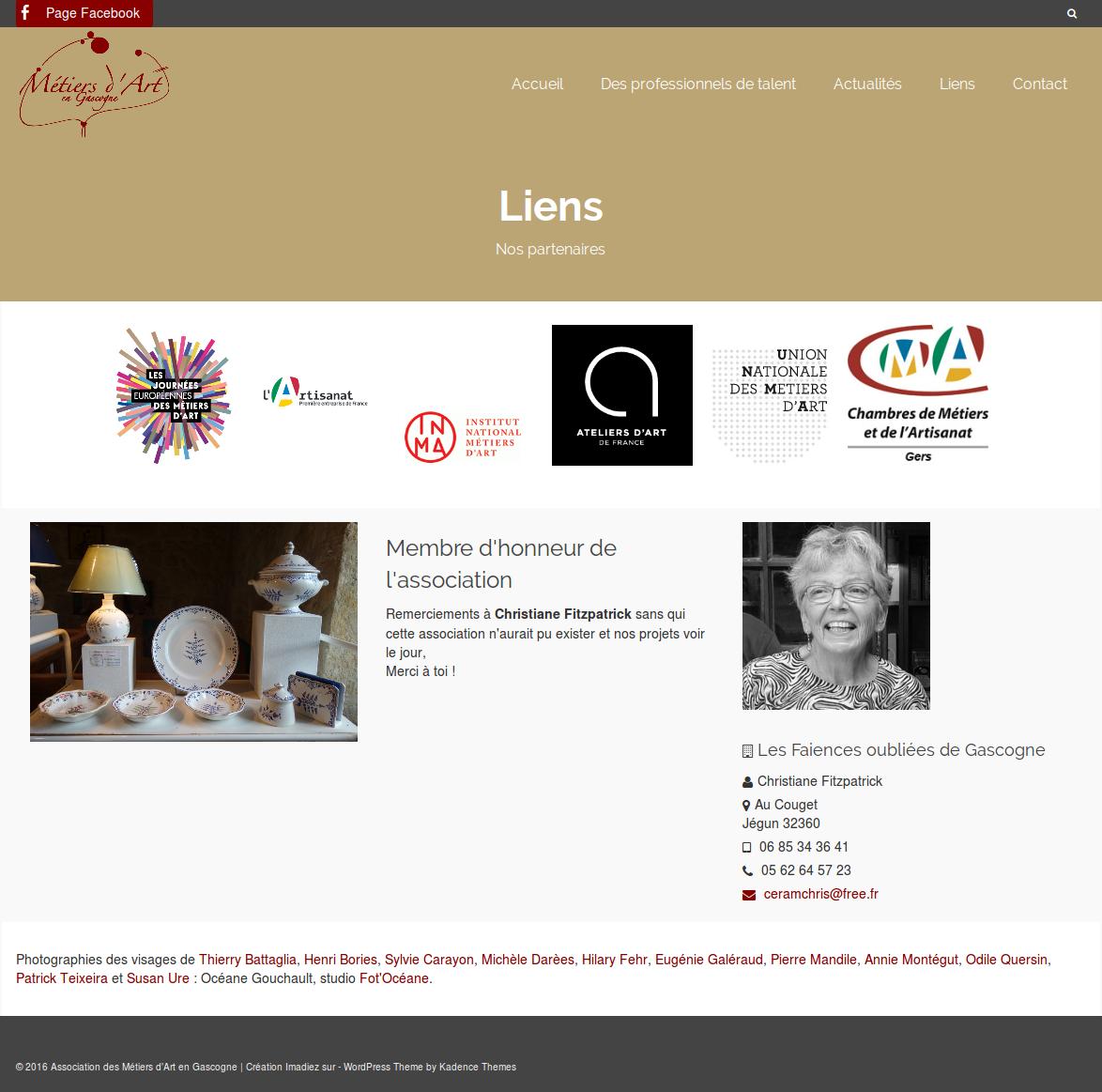 Association des Métiers d'Art en Gascogne : un nouveau site